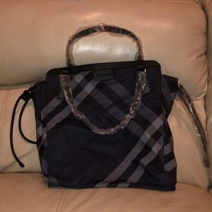 Packable Nylon Check SM Buckleigh Tote
